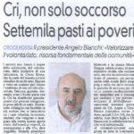 CRI, non solo soccorso- Settemila pasti ai poveri