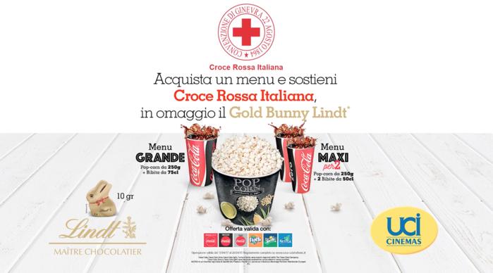 UCI Cinemas, Coca Cola HBC Italia e Lindt Italia insieme alla Croce Rossa Italiana per le popolazioni colpite dal terremoto