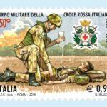 150° Anniversario della fondazione del Corpo Militare C.R.I.: Francobollo celebrativo