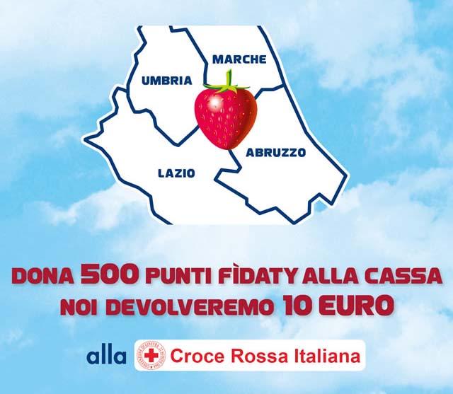 Dona 500 Punti Fìdaty. Esselunga devolverà 10 euro alla Croce Rossa italiana.