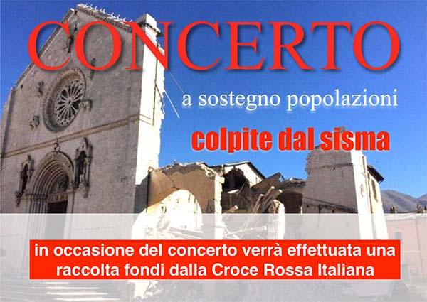 Concerto per le popolazioni colpite dal Sisma – 19 Novembre 2016