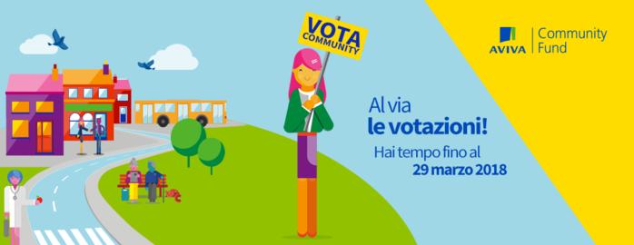 Aviva Community Fund. Al via le votazioni online!