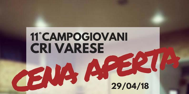 XI Campo Giovani Cena Aperta @ Scuola Vidoletti Varese | Varese | Lombardia | Italia