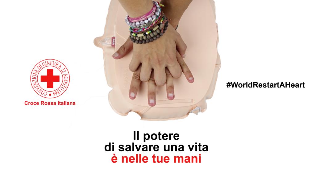 """Croce Rossa: """"Il potere di salvare una vita è nelle tue mani"""", lo spot lanciato nel World Restart A Heart day"""