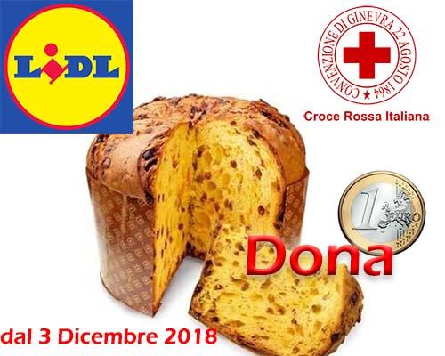 Dona 1 Euro alla Croce Rossa Italiana con il Panettone Lidl