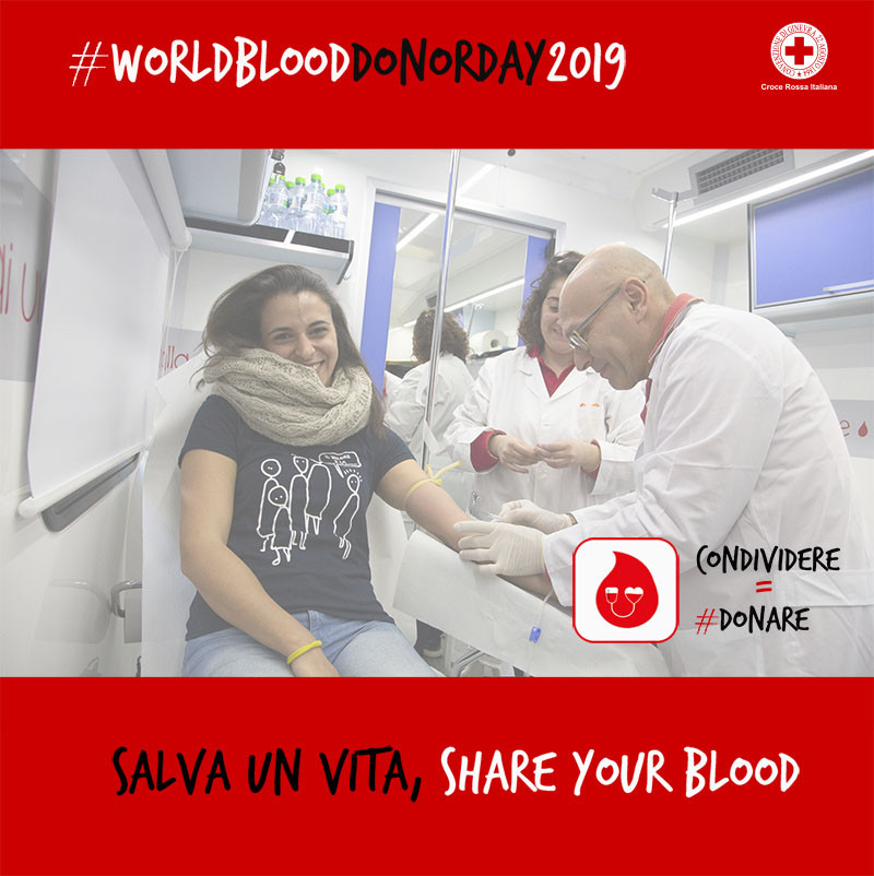 Campagna WORLD BLOOD DONOR DAY 2019