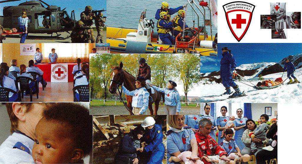 Entra a far parte del Corpo delle Infermiere Volontarie della Croce Rossa Italiana
