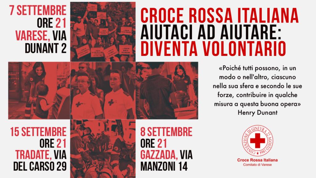 Diventa Volontario della Croce Rossa Italiana – Serate di presentazione corso Volontari