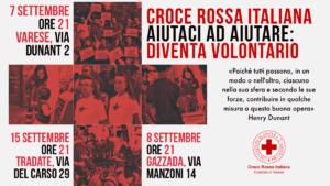 Diventa Volontario della Croce Rossa Italiana – Serate di presentazione corso Volontari Varese @ Sede CRI Varese | Varese | Lombardia | Italia