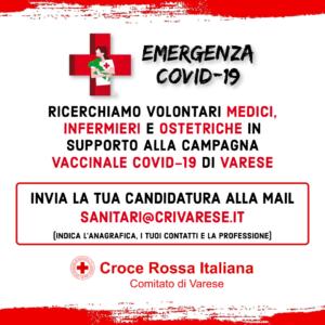 Reclutamento professionisti campagna vaccinale COVID-19