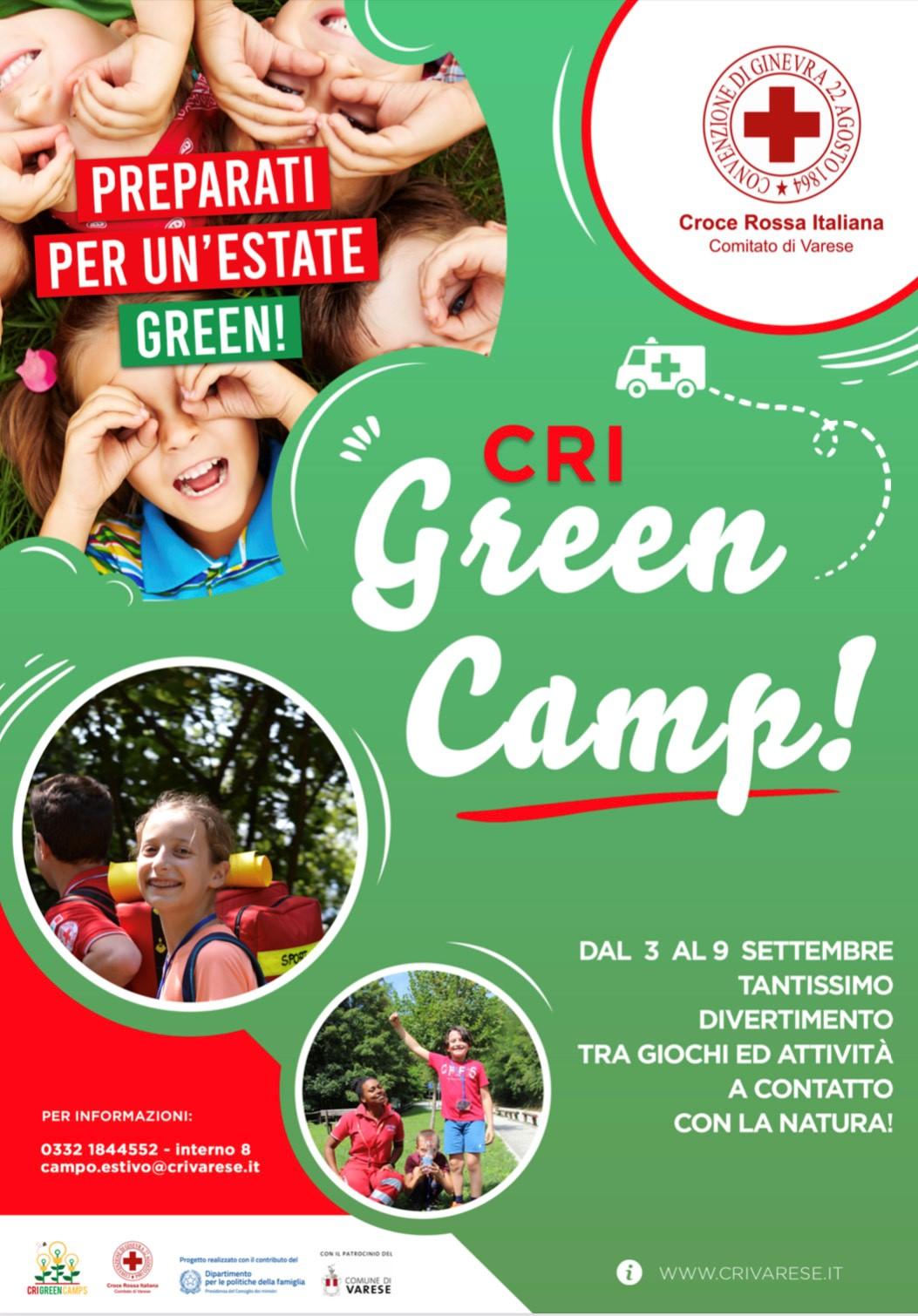 Green camp, il campo estivo della Croce Rossa Italiana Comitato di Varese