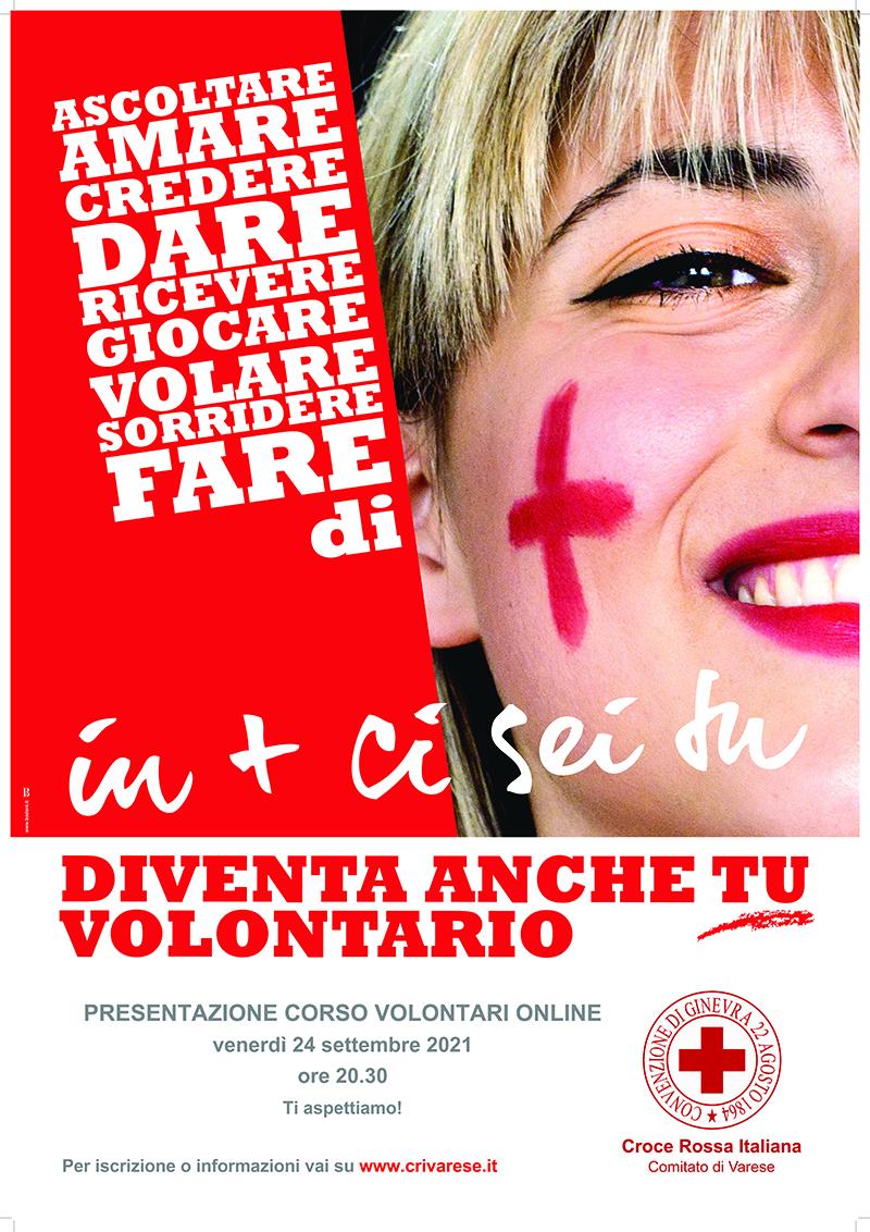 Nuovo corso per diventare Volontario della Croce Rossa a Varese @ ONLINE